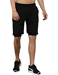 Skult By Shahid Kapoor Men's Cotton Shorts - B076BNMN7X