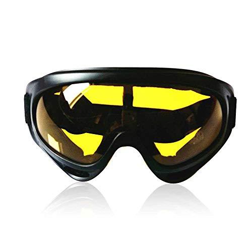 AOLVO Reitbrille Ski Brille, UV 400 Verspiegelt Schutzbrille Solarium Ohne Stärke Runde HD Sonnenbrille Kratzfeste für Damen Herren Motocross Flieger Motorrad Wayfarer Klar Spiegel Objektiv
