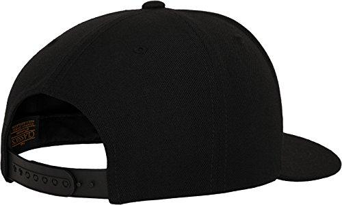 Flexfit Classic Snapback Cap, Mütze Unisex Kappe für Damen und Herren, One Size, plus extra Kindergröße black