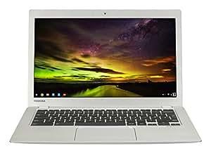 Toshiba PLM02E-00D003EN CB30-B-104 13 inch Chromebook Laptop (Intel Celeron 2.16 GHz, 4 GB RAM, 16 GB SSD, Google Chrome OS) - Silver (Launched in 2015)