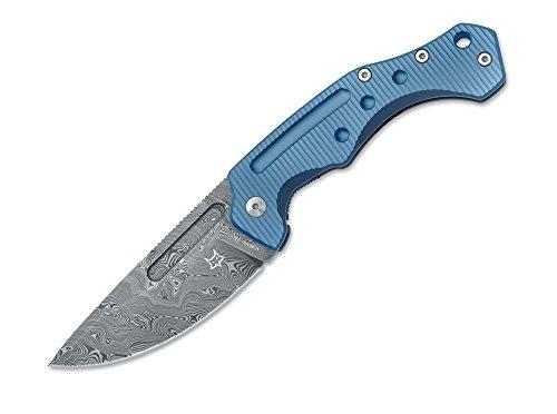 Fox Knives Desert Fox Damast Taschenmesser, Titan, Blau, One Size