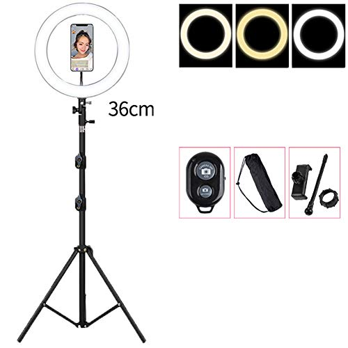 36cm LED Ringlicht mit 55cm Stand Dimmbarem USB Video Licht Für Live Streaming Kamera Vlogging