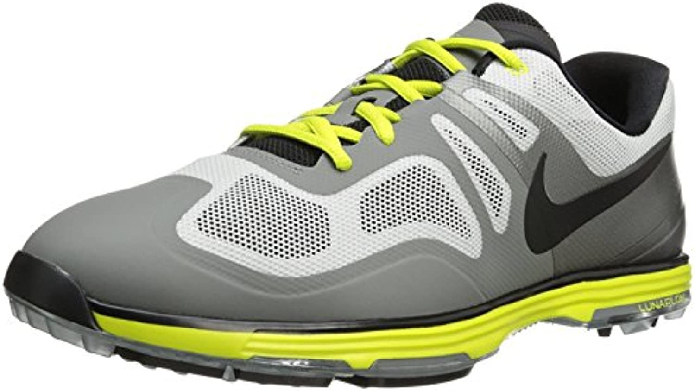 Nike Golf Men's Lunar Ascend II Golf Shoe, Light Base Grey/Med Base Grey/Venom Green/Black, 42.5 D(M) EU/8 D(M...
