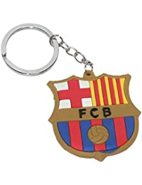 AURA DOUBLE SIDED FCB RUBBER KEY CHAIN KEYRING MULTICOLOR - KC586