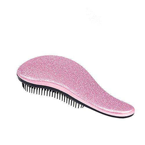 Detangle Bürsten, HFSHOP Entwirren Haar Bürsten Kamm für Frauen, Mädchen, Männer & Junge, Nass und Trockenen Haaren, Ergonomischer Design, Entwirrenbürste Entwirren Haar Bürsten, Zum Entwirren und Entknoten von Haaren (M1-Pink)