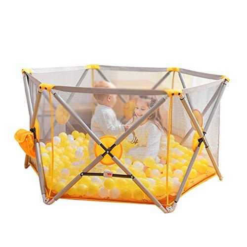 Parc pour enfants parc pour enfants Terrain de jeu d'intérieur de rambarde incassable de sécurité de barrière des enfants, approprié à la barrière de maille des enfants 0-5 ans, envoyer 100 balles mar