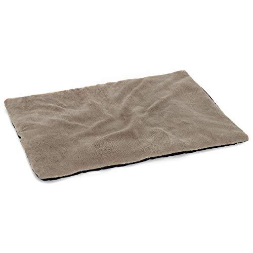 vitazoo Hundedecke, grau, isoliert und leicht gepolstert - sehr leicht, ideal zum Mitnehmen und Transportieren, rutschfeste und Wasserabweisende Unterseite, 60cm x 45cm -
