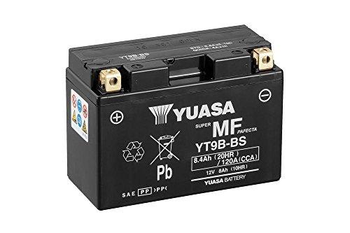 Batteria YUASA YT9B-BS, 12V/AH (dimensioni: 150X 70X 105) per Yamaha YZF600R6anno di costruzione 2005