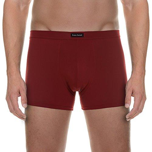 Bruno Banani Herren Retroshorts Short 2pack Micro Coloured, 2er Pack Rot (bordeaux 85)