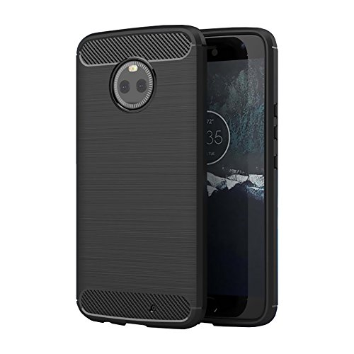 foso-carbon-fiber-shock-proof-rugged-armor-back-case-cover-with-metallic-brush-finish-for-moto-x4-carbon-fiber-black