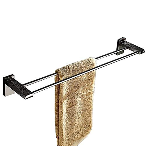 Chrom Doppel-bücherregal (WSQ Towel Rack 304 Edelstahl Doppel Handtuchhalter Wandmontage Handtuchhalter Chrom poliert Bad Handtuchhalter Handtuchhalter)