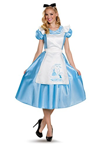 Disney Alice in Wonderland Classic Alice Deluxe Costume Adult Medium 8-10