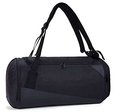 MIER Lightweight Gym Sports Bag Travel Duffel Backpack with Shoes Compartment for Men and Women, Waterproof Bottom, 35L,