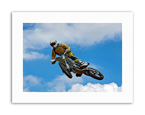 MOTOCROSS DIRT BIKE JUMP PHOTO Poster Picture Sport Canvas art Prints