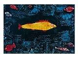 Paul Klee Poster Kunstdruck Bild Der goldene Fisch 80x60cm - Kostenloser Versand