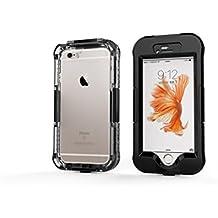 DBIT iPhone 6 Plus Custodia Impermeabile,IP68 Certificato Sigillatura Completa Case Anti-sporco Cover Protettiva Waterproof Impermeabile Antiurto per Apple iPhone 6s Plus,Nero