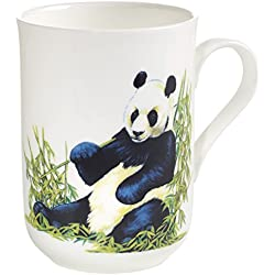 Maxwell & Williams pba0006 Animals of the world – Taza Panda, caja de regalo, porcelana, blanco/multicolor