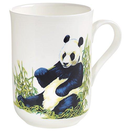 Maxwell & Williams Animals of The World Panda, Geschenkbox, Porzellan, PBA0006 Becher, weiß, bunt, 10.5 x 7.5 x 10.5 cm