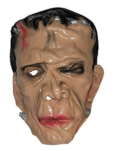 costumebakery - Kostüm Accessoires Zubehör Latex Horror Frankenstein Maske, perfekt für Halloween Karneval und Fasching, Natur (Kostüm Zubehör Frankenstein)