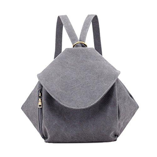 Mode Mini College Rucksack Schule Schulter Tasche Rucksack Satchel Für Frauen Mädchen Multicolor,Grey-M (Klassische Satchel Mode)