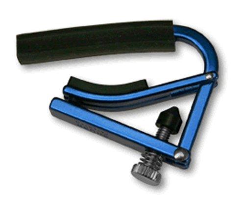 Shubb Lite GC-20AL Kapodaster für Akustikgitarre, eloxiertes Silber Anodized Blue