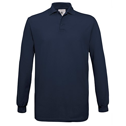 B&C Collection Herren Poloshirt Blau - Navy