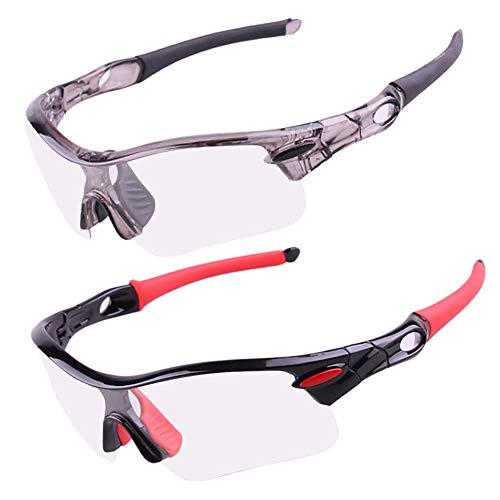 0678ed45f2 YGQersh a Prueba de Viento Gafas Ciclismo al Aire Libre fotocromáticas de  Sol polarizadas - Negro