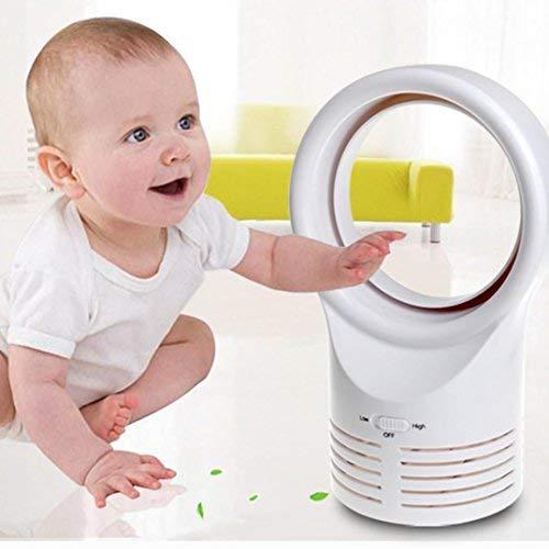 Ecosin Kid desktop del fan Portable Air Flow che raffredda basso basso rumore bianco Infradito colorati estivi, con finte perline 13 * 28 * 17.3cm