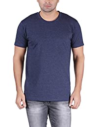 T-Shirt.ind.in Casual Mens Navy Melange Round Neck T-Shirt