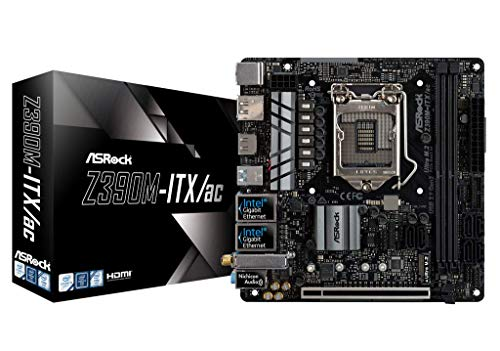 Price comparison product image ASRock 90-MXB6Q0-A0UAYZ Newcomer in the range, Mainboards ASRock Z390M-ITX/AC, Intel Z390 - Sockel 1151 Black