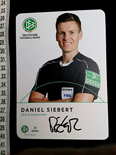 Autogrammkarte. mit eigenhändiger Unterschrift original hand signed autograph card with picture of the famous german referee. -