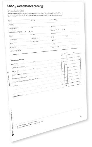 Avery Zweckform 504e Lohn-/Gehaltsabrechnung [PDF-Download]