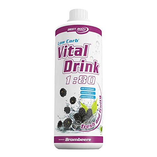 Best Body Nutrition - Low Carb Vital Drink Brombeere, 1000 ml