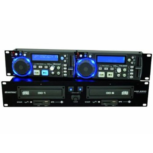 Omnitronic XDP-2800 Doppel CD / MP3-Player (2x USB 2.0, 2x SD Karten Slot) schwarz