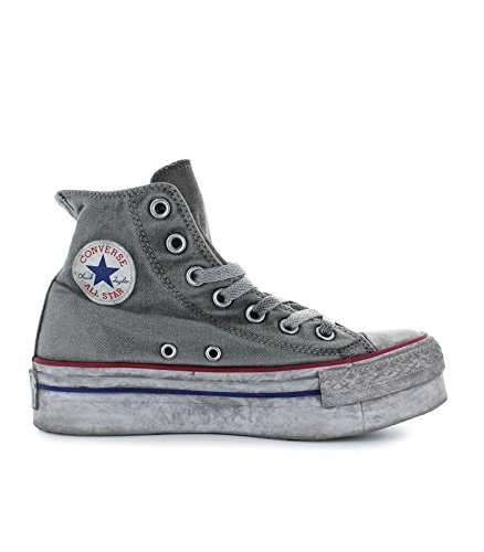 2converse all star platform grigie