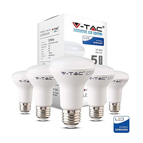 V-TAC 8W (60W) ahorro de energía R63 Reflector LED Bombilla 60W Equiv