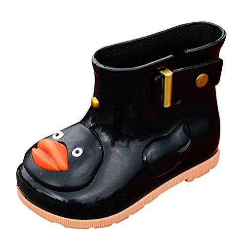 Kleinkind (24-29) Regen Schuhe Kinder Kinder Baby Karikatur Ente Gummi Wasserdicht Stiefel Warm Beiläufig Schnee Regen Schuhe Karikatur Weich Atmungsaktiv Festival Retro Klassisch Turnschuhe