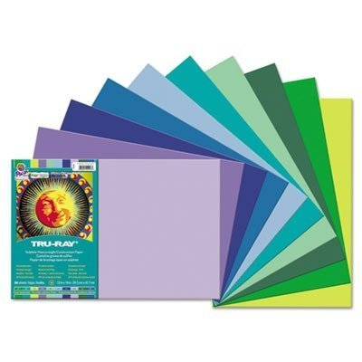 Pacon 102943 Tru-ray Construction Paper 76 Lbs. 12 X 18 Assorted 25 Sheets/pack by Pacon (English Manual)