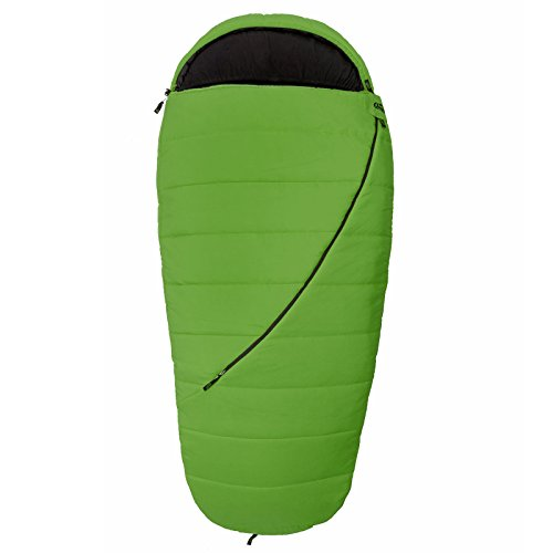 Qeedo Buddy XL Sacco a Pelo, 225 x 100 cm, Comfort-Temperature: +4°C (Qeedo Comfort Control, Best Shape & Soft Touch) - verde