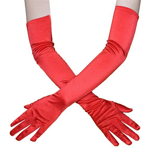 Ellenbogen Länge Handschuhe Rot - 3 Farben Mode Sexy Frauen Über