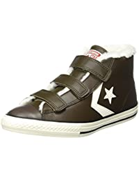 Converse Unisex-Kinder Star Player Ev 3v Mid Hot Cocoa/Egret Hohe Sneaker