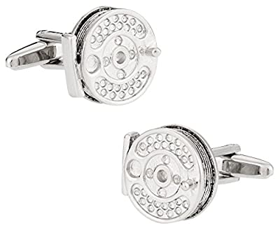 Fly Fishing Reel Cufflinks By Cuff-Daddy from Cuff-Daddy