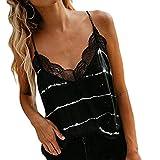 ZEELIY Mode Damen Sommer Sexy V-Ausschnitt Lässige ärmellose Cami Tank Streifen T-Shirt mit ärmellosen Elegant Casual Tops Bluse