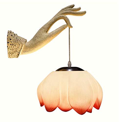Lámpara de pared Lotus Lámpara de pared Zen Fashion Lámpara de pared Pasillo Escalera Salón Lámpara de pared Dormitorio Sala de té Lámpara de pared Personalidad (Tamaño: 45 x 13,5 cm)