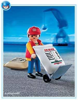 Preisvergleich Produktbild PLAYMOBIL® 4475 - Hafenarbeiter mit Sackkarre