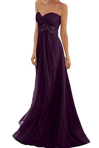 Toscana sposa Glamour a forma di cuore Chiffon sera abito lungo damigella d' onore Fest vestiti da ballo uva