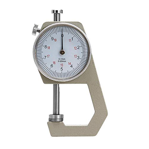 GIlH Round Dial Thickness Gauge Range 20mm Accuracy 0.1mm Metal Paper Leather Craft Tool -