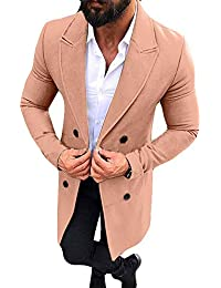 CLOOM Giacca Invernale Uomo Cappotto New Trench Outwear Lunghi Cappotto  Smart Overcoat Button Giacche Jacket Top 823bb061c0a