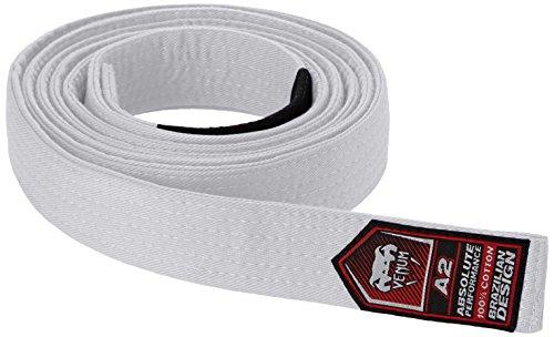 Venum Unisex Erwachsene Gürtel Brazilian Jiu-Jitsu Belt, Weiß, A2 -