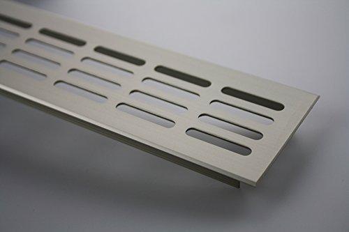Lüftungsgitter Stegblech Lüftung aus Aluminium 60mm x 300mm in verschiedenen Farben (Edelstahl elxoiert - E6C31)